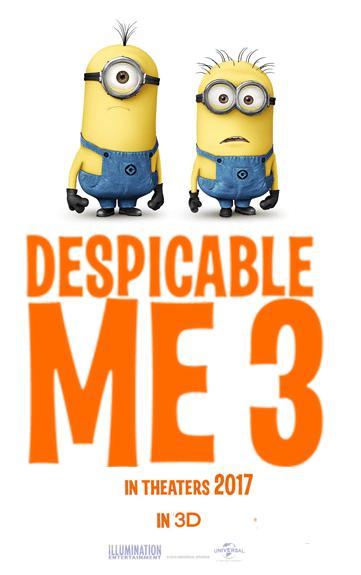 ผลการค้นหารูปภาพสำหรับ Despicable 3 poster