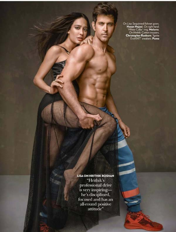 Hrithik Roshan & Lisa Haydon Vogue India Photoshoot January 2017