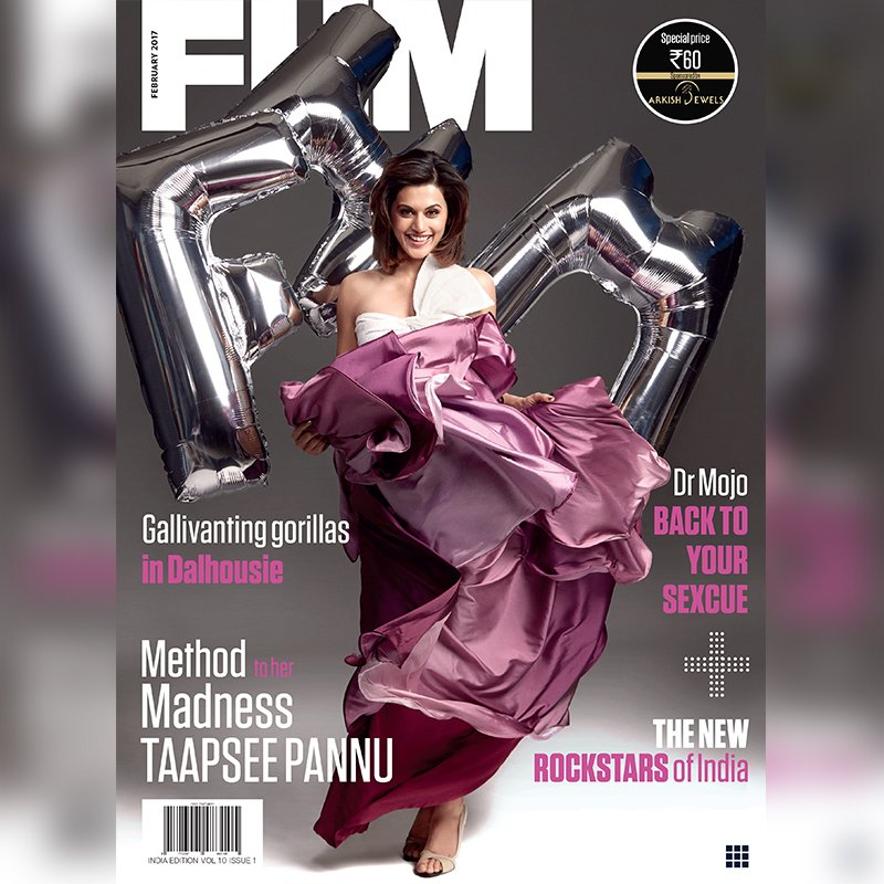 Taapsee Pannu On The Cover Of FHM India Magazine February 2017 Issue