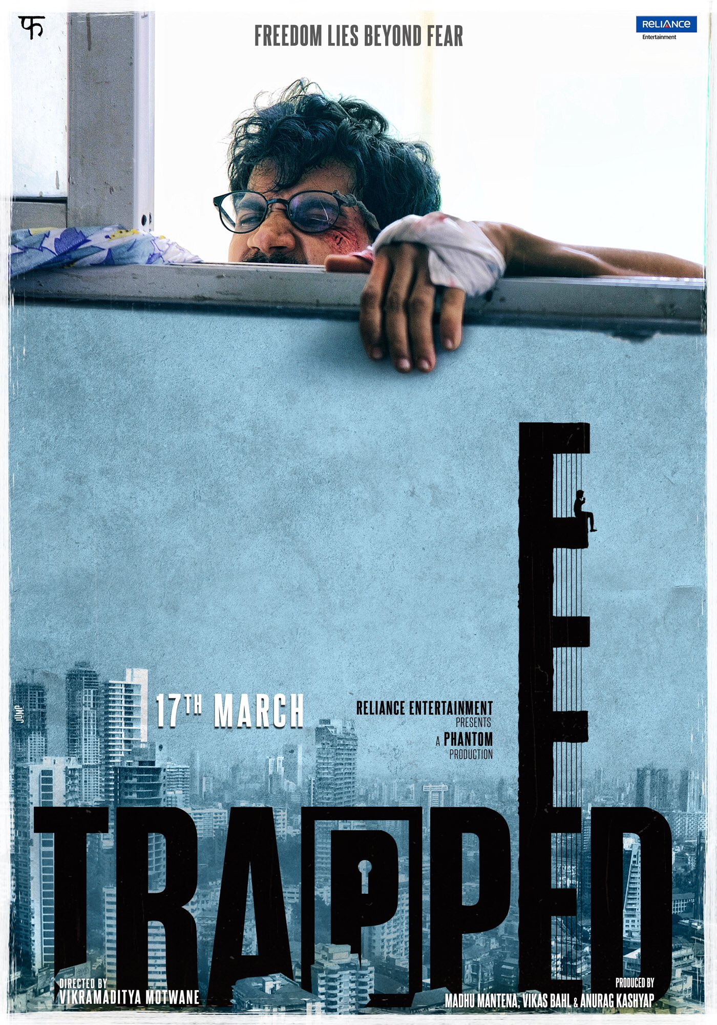 Poster Of Bollywood Movie Trapped 2017 300MB Pdvd Full Hindi Movie