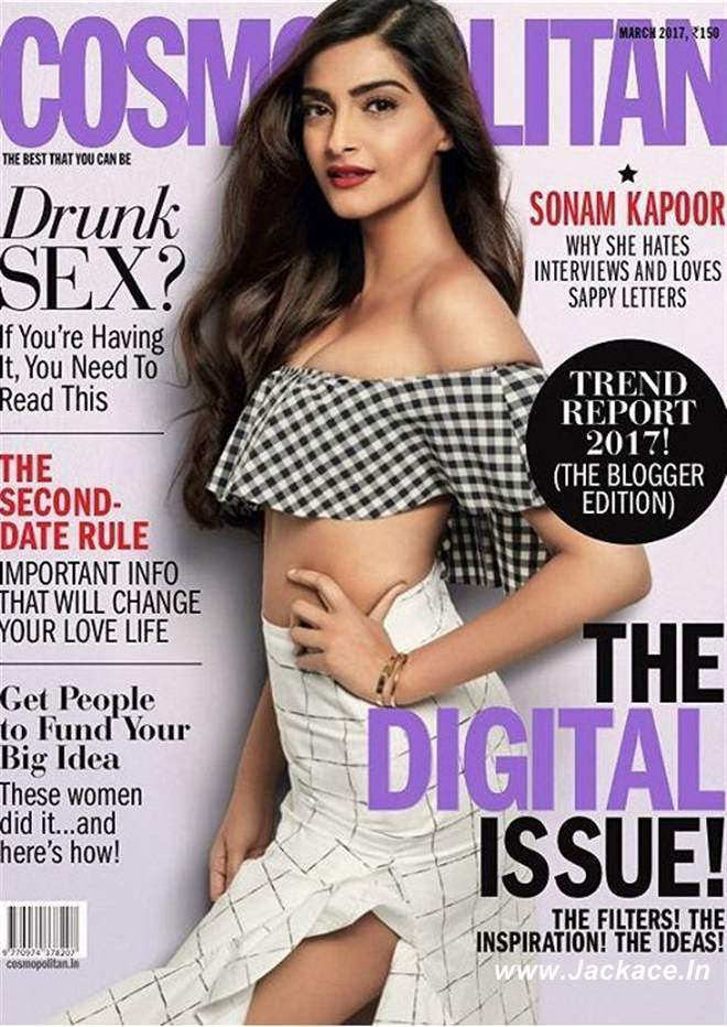 Sonam Kapoor Photoshoot For The Cover Of Cosmopolitan India Magazine March 2017