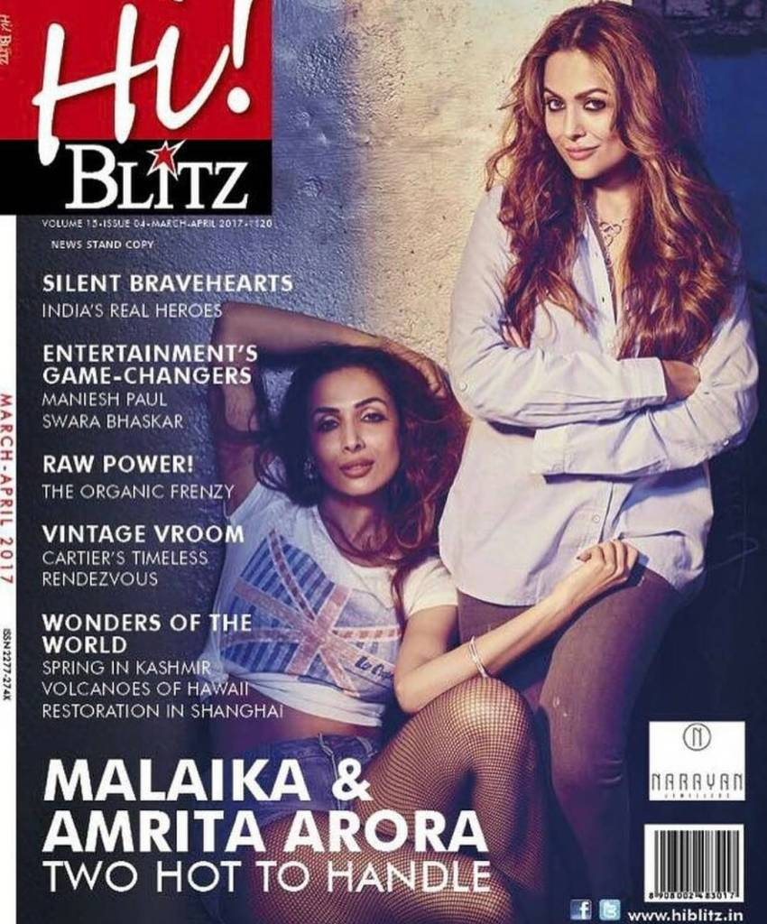 Malaika Arora and Amrita Arora Photoshoot for Hi! Blitz Magazine India March-April 2017