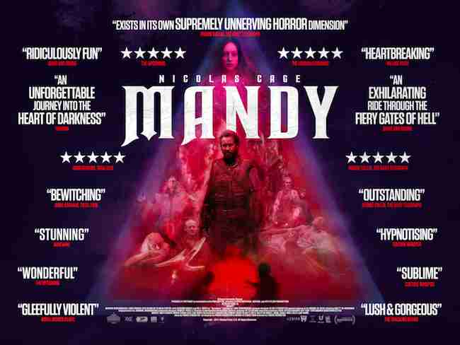 Nicolas Cage's MANDY Gets A UK Poster, Release Date  & A Mayhem Festival Screening!