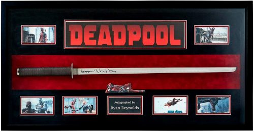 Marvel Deadpool Signed Ryan Reynolds Katana 500x260 Marvel Deadpool Signed Ryan Reynolds Katana