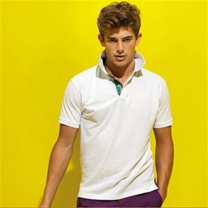 Cotton check trim polo