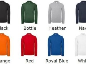 8 colours available