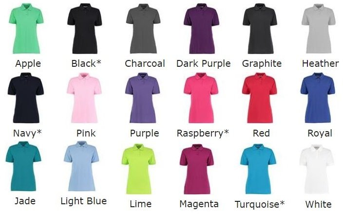 Easycare Sizes 8,10,12,18,20,22 CHARCOAL Ladies Clerical Clergy Polo Shirt