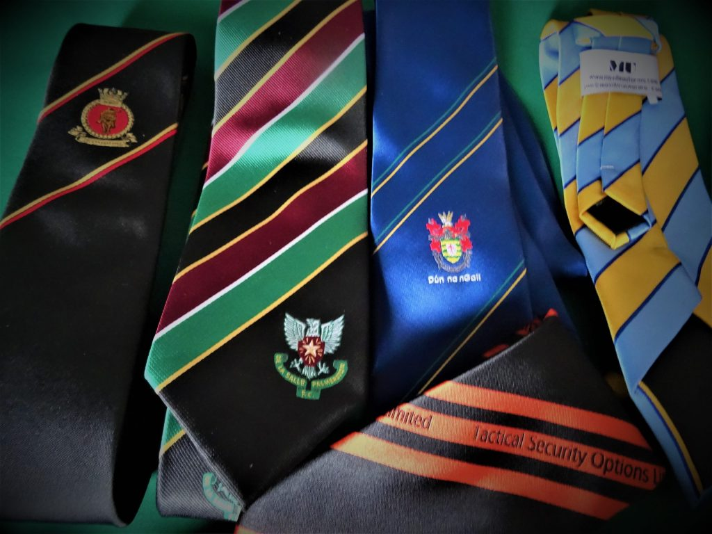 Custom Crested Club Ties