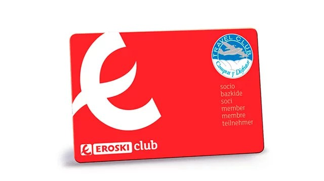 tarjeta Eroski Club y Travel Club