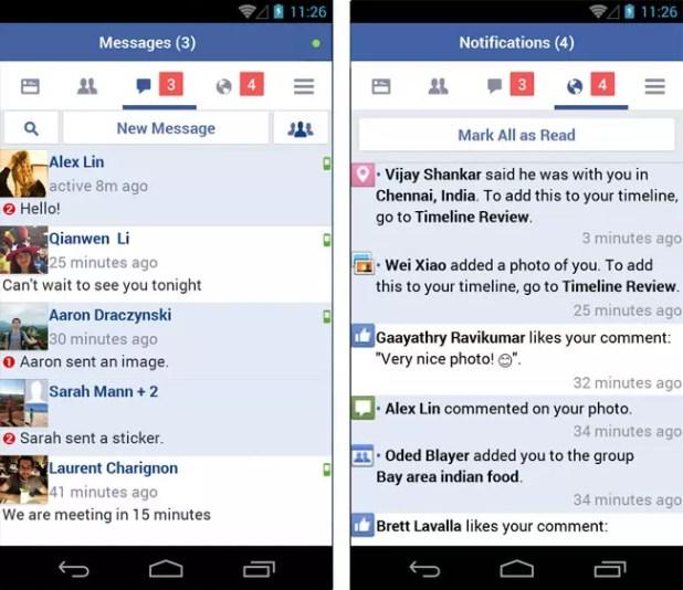 Funciones de Facebook Lite