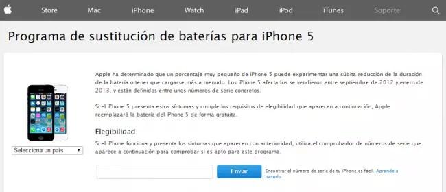 iPhone 5 reemplazo