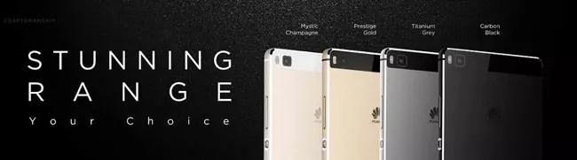 Colores del Huawei P8