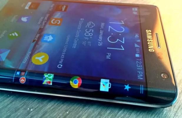 Pntalla curve del Samsung Galaxy Note Edge