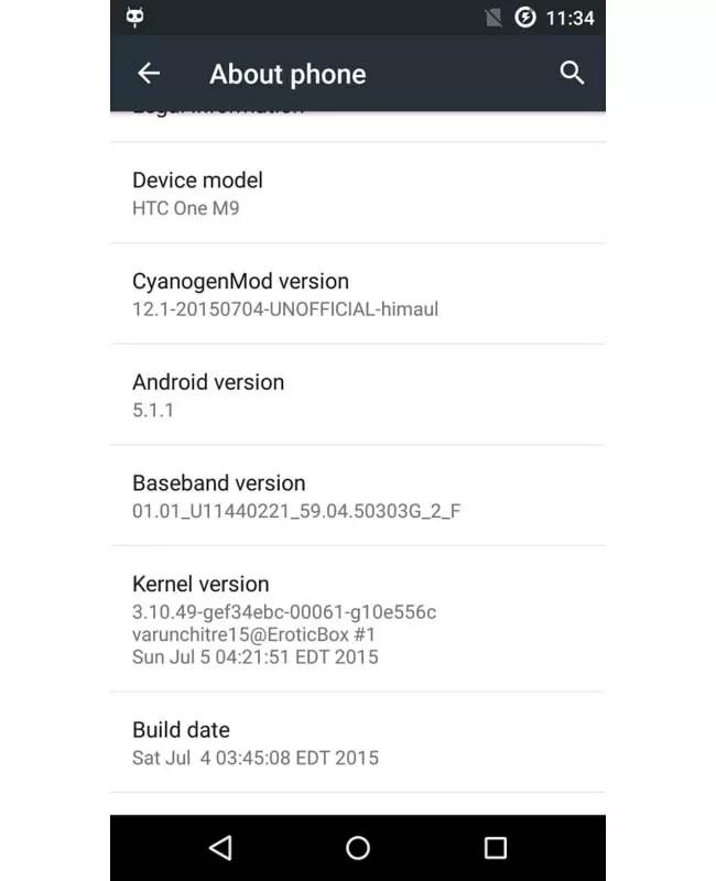 HTC One M9 cyanogenmod 12.1
