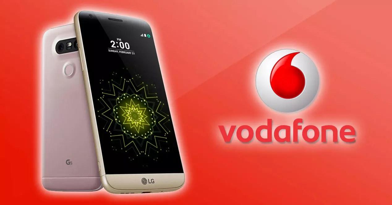 LG G5 con logo de vodafone