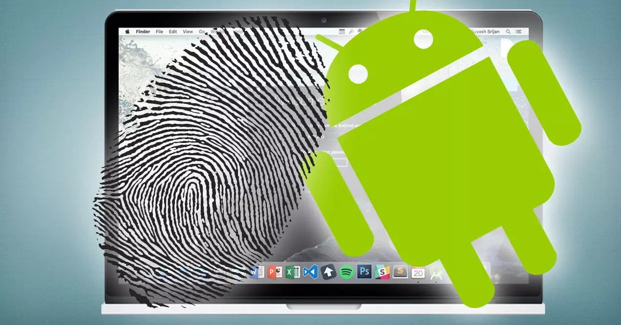 mac android huella dactilar