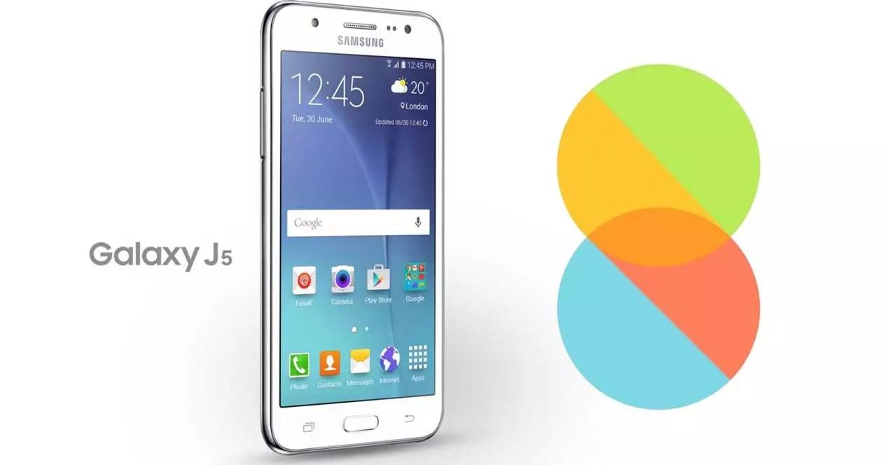Samsung Galaxy J5 con MIUI 8