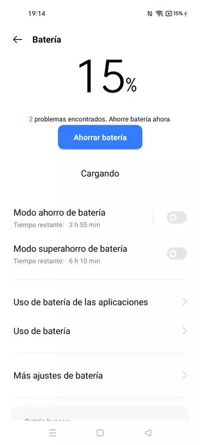 The realme GT Master Edition battery has lights and shadows