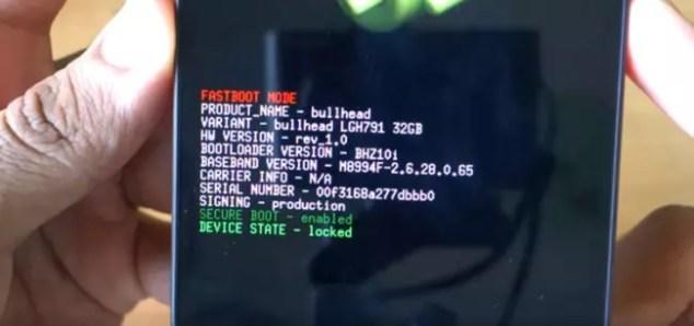 Bootloader del Nexus 5X