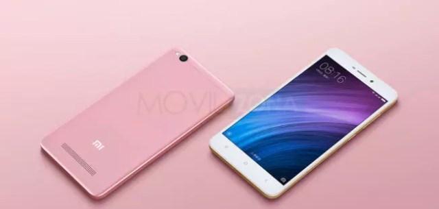 Xiaomi Redmi 4A blanco y rosa