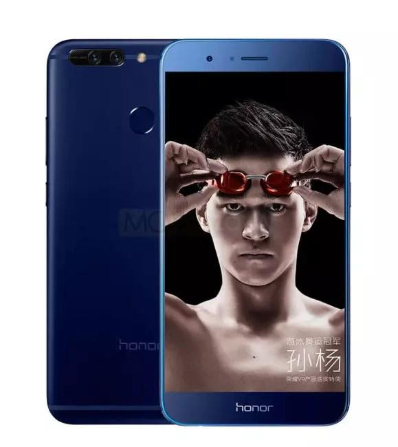 Honor V9 azul vista delantera