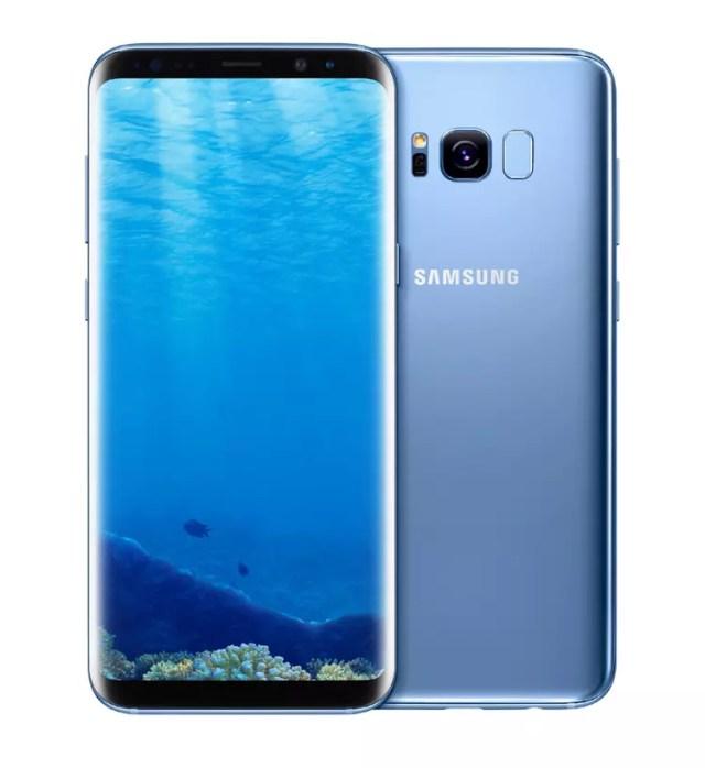Samsung Galaxy S8 en color azul