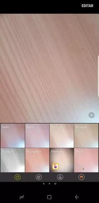 Samsung Galaxy S8 filtros modo automático
