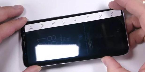 Resistencia a los arañazos de la pantalla del Samsung Galaxy S8