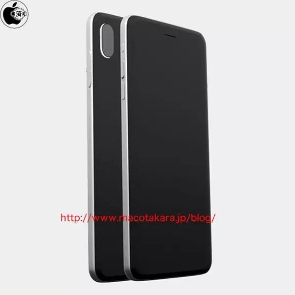 Imagen renderizada de la carcasa y cámara doble del iPhone 8