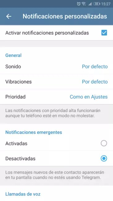 notificaciones personalziadas telegram