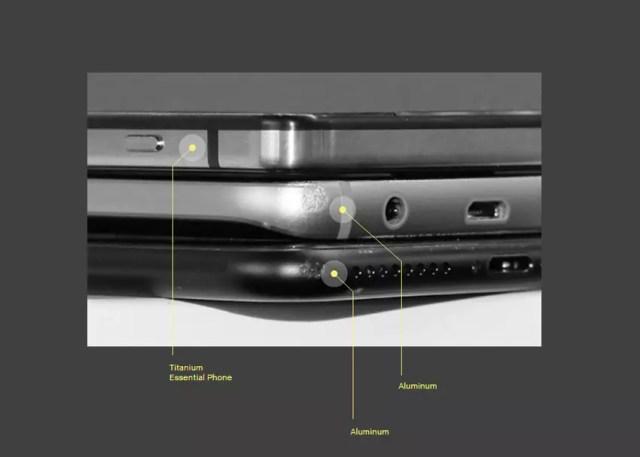 Carcasa de titanio del Essential Phone
