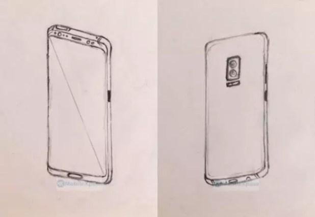 Boceto del Samsung Galaxy Note 8