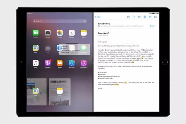 Pantalla dividida o Split View para iPad en iOS 11