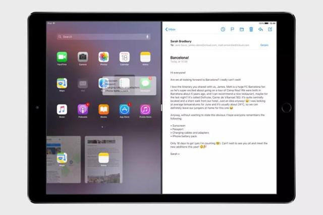 Pantalla dividida o Split View para iPad en ©iOS 11