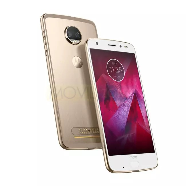 Motorola Moto Z2 Force Edition blanco y dorado