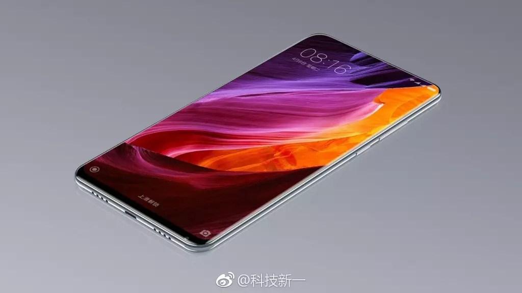 Render con el layout del Xiaomi Mi Mix 2