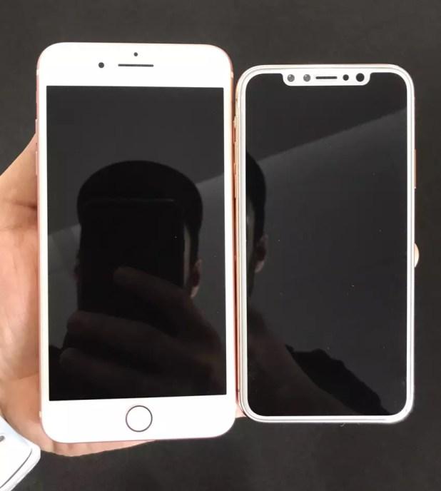 iPhone 8 con frontal de color blanco