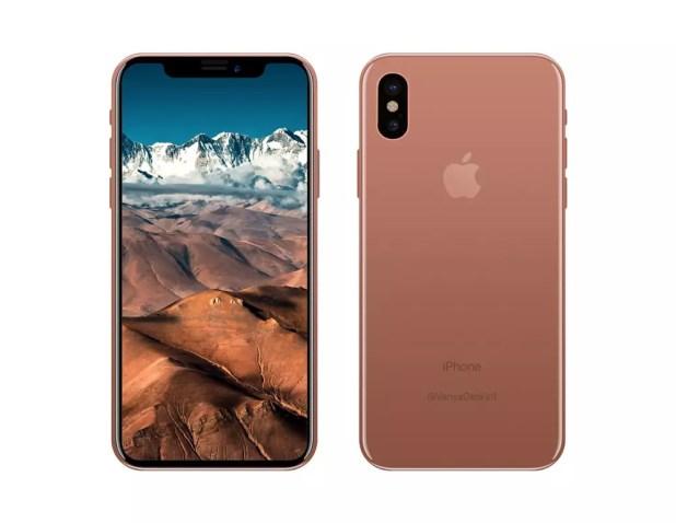 iPhone 8 en color cobre y frontal negro