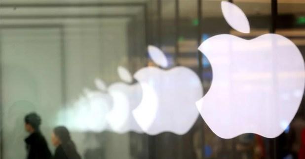 Logotipo de Apple en color blanco