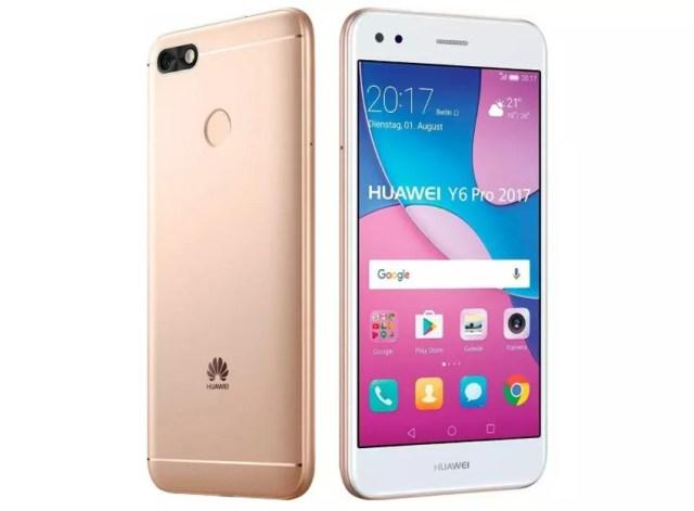 Huawei Y6 Pro 2017 color dorado