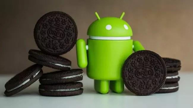 Android  Andy con galletas Oreo