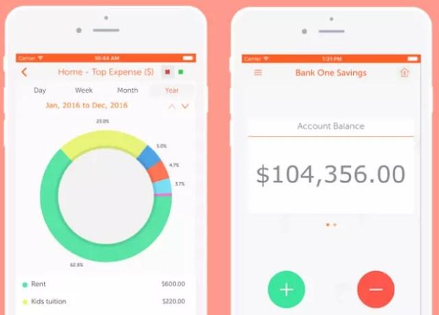 Interfaz de la app Easy Spending