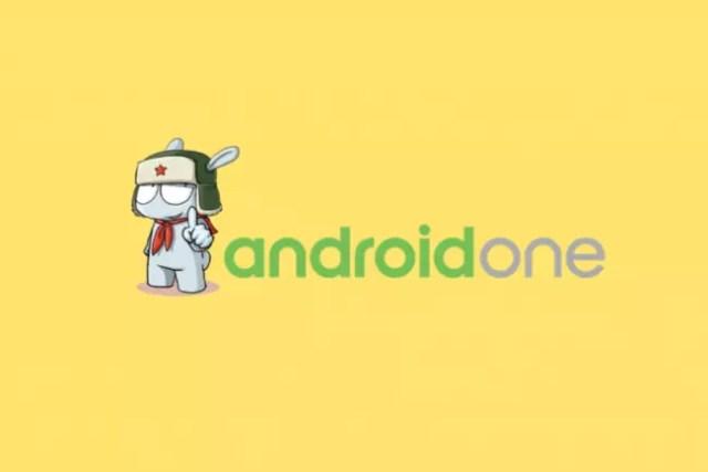 Logo de android One con el logotipo de xiaomi