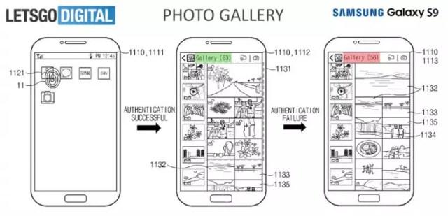 App galería con soporte para sensor de huellas entrado en pantalla de los Samsung℗ Galaxy