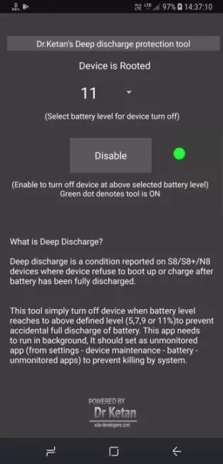 Deep Discharge Protection Tool