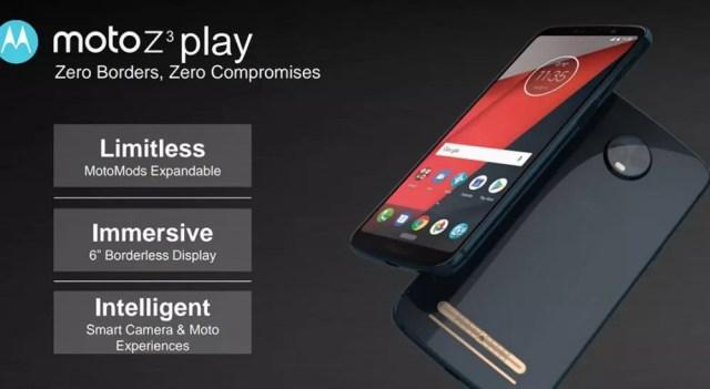 Foto filtrada que deja visualizar detalles sobre los Moto Z3 y Moto Z3 Play