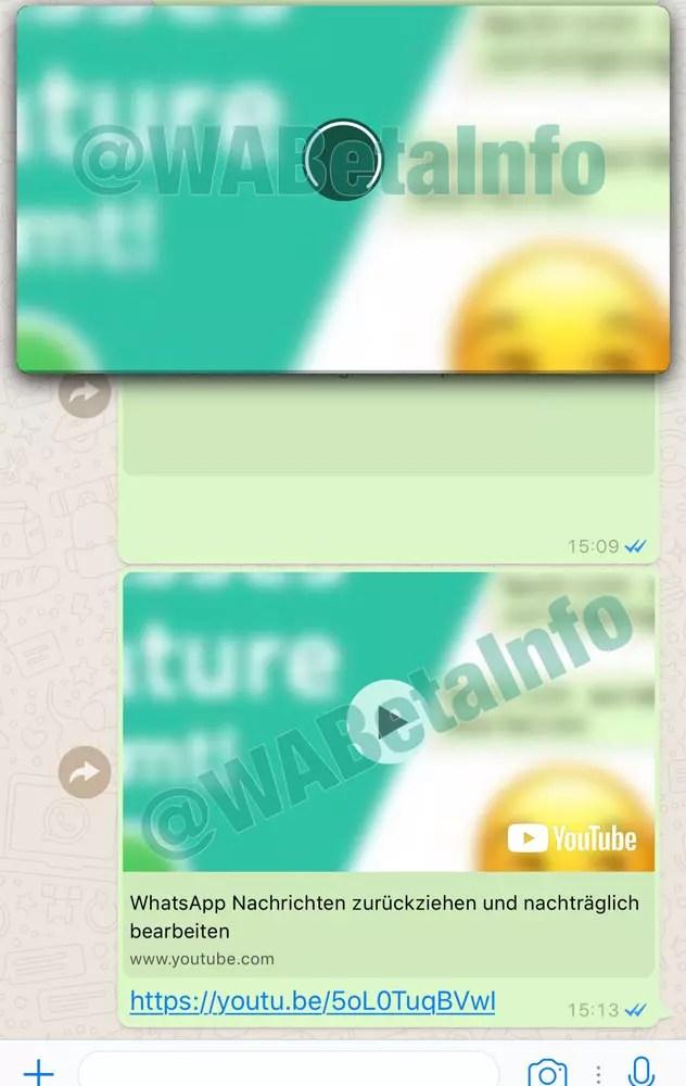 Función PIP en WhatsApp
