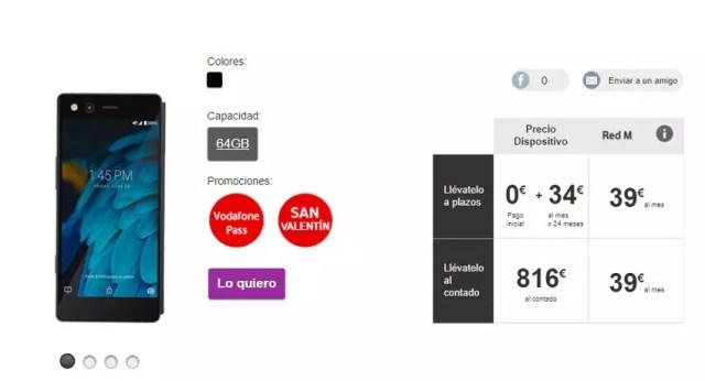 ZTE Axon M disponible en exclusiva con Vodafone℗ España