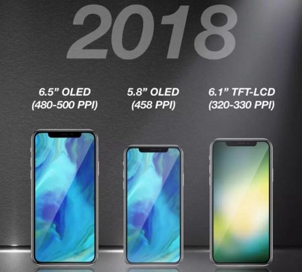 nueva generación de modelos iPhone X de 2018