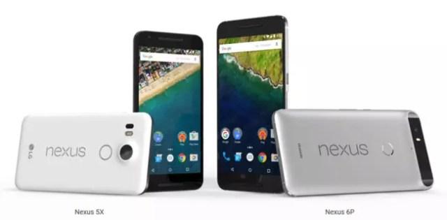 Nexus 5X y Nexus℗ 6P en colores blanco y gris